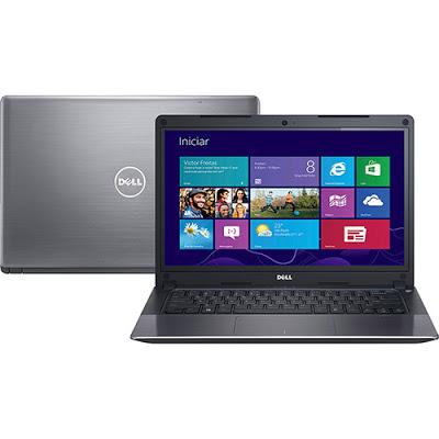 """Conheça o Notebook Dell Vostro V14T-5480-B50 com processador Intel Core i7 (5500U) de 2.4 GHz a 3 GHz e 4 MB cache, 8GB de memória, Hd de 500GB, Tela LED de 14"""", Placa de vídeo Nvidia 830M com 2 GB de memória dedicada, Conexões USB e HDMI, Não possui drive de DVD, Bateria de 3 células, Peso aproximado de 1,53kg e Windows 8. BT Informática."""