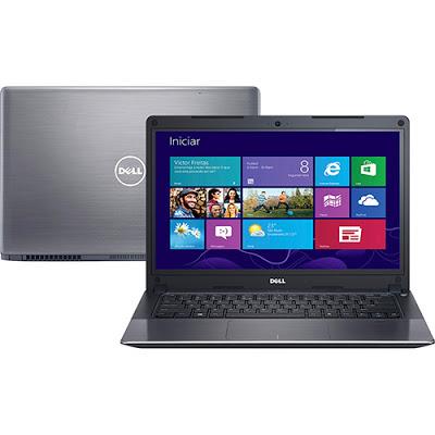 """Conheça o Notebook Dell Vostro V14T-5480-B60 com processador Intel Core i7 (5500U) de 2.4 GHz a 3 GHz e 4 MB cache, 8GB de memória, HD de 500GB, Tela LED de 14"""" Touch, Placa de vídeo GT 830M com 2 GB de memória dedicada, Conexões USB e HDMI, não possui drive de DVD, bateria de 3 células, peso aproximado de 1,6kg e Windows 8. BT Informática."""