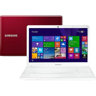 """Conheça o Notebook Samsung ATIV Book 2 (NP270E5J-KERBR) com processador Intel Core i5 (4210U) de 1.7 GHz a 2.7 GHz e 3 MB cache, 4GB de memória, HD de 1TB, Tela LED de 15.6"""", Conexões USB e HDMI, Drive de DVD, Bateria de 6 Células, Peso aproximado de 2.2kg e Windows 8.1. BT Informática."""