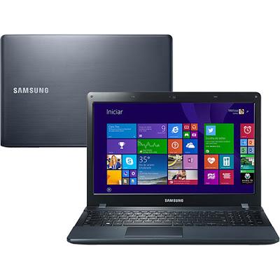 """Conheça o Notebook Samsung ATIV Book 2 (NP270E5J-XD1) com processador Intel Core i5 (4210U) 1.7 GHz a 2.7 GHz e 3 MB cache, 8GB de memória, HD de 1TB, Tela LED de 15.6"""", Placa de vídeo Geforce 710M com 2 GB de memória dedicada, Conexões USB e HDMI, Drive de DVD, Bateria de 6 células, Peso aproximado de 2,2kg e Windows 8.1. BT Informática."""