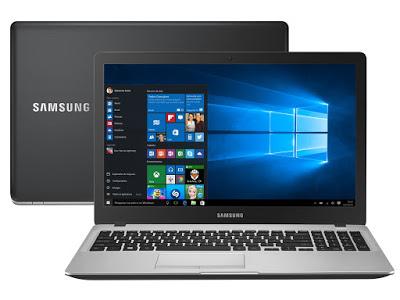 """Conheça o Notebook Samsung Expert X50 NP500R5H-XD2BR com processador Intel Core i7 (5500U) de 2.4 GHz a 3 GHz e 4 MB cache, 8GB de memória, HD de 1TB, Tela LED HD de 15,6"""", Placa de vídeo Geforce 940M com 2 GB de memória dedicada, Conexões USB e HDMI, Não possui drive de DVD, Bateria de 3 células, Peso aproximado de 2kg e Windows 10."""