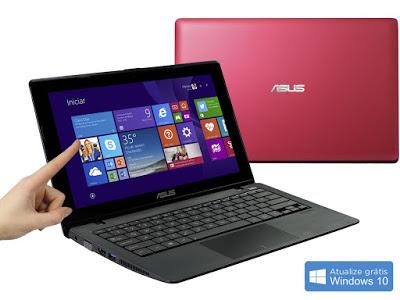 """Conheça o Notebook Ultrafino Asus X200MA-CT139H com processador Intel Celeron Dual Core (N2815) de 1.86GHz a 2.13GHz e 1 MB cache, 2GB de memória, HD de 500GB, Tela LED de 11.6"""", Conexões USB e HDMI, não possui drive de DVD, Bateria de 3 células, Peso aproximado de 1,3kg e Windows 8.1. BT Informática."""