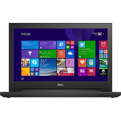 """Conheça o Notebook Dell Inspiron i15-3542-B10 com processador Intel Core i3 (4005U) de 1.7 GHz e 3 MB cache, 4GB de memória, HD de 1TB, Tela LED 15,6"""", Conexões USB e HDMI, Drive de DVD, Bateria de 4 células, Peso aproximado de 2,4kg e Windows 8.1."""