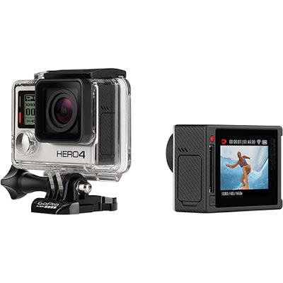 Conheça Câmera Digital GoPro Hero 4 Silver Adventure com Display touchscreen, Gravação de vídeos 4K, Fotos em 12MP com até 30 quadros por segundo, WiFi, Bluetooth e Resiste até 40 metros debaixo d'água.