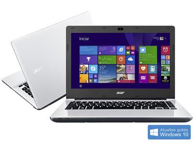 """Conheça o Notebook Acer E5-471-38FQ NX.MU8AL.002 com processador Intel Core i3 (4005U) de 1.7 GHz e 3 MB cache, 4GB de memória, HD de 1TB, Tela 14"""", Conexões USB e HDMI, Drive de DVD, Bateria de 6 células, Peso aproximado de 2,3kg e Windows 8.1."""
