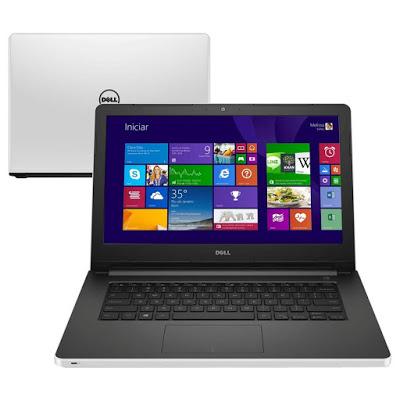 """Conheça o Notebook Dell Inspiron i14-5458-B40 com processado Intel Core i5 (5200U) de 2.2 GHz a 2.7 GHz e 3 MB cache, 8GB de memória, HD de 1TB, Tela LED de 14"""", Placa de vídeo Geforce 920M com 2 GB de memória dedicada, Conexões USB e HDMI, Drive de DVD, Bateria de 4 Células, Peso aproximado de 2kg e Windows 10."""