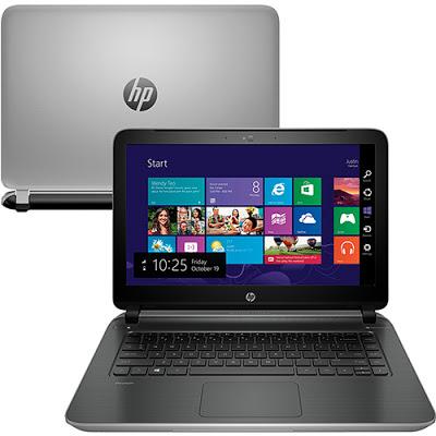 """Conheça o Notebook HP Pavilion 14-v062br F4J45LA#AC4 com processador Intel Core i5 (4210U) de 1.7 GHz a 2.7 GHz e 3 MB cache, 8GB de memória, Hd de 1TB, Tela LED de 14"""", Conexões USB e HDMI, Drive de DVD, Bateria de 4 Células, Peso aproximado de 1,98kg e Windows 8.1."""
