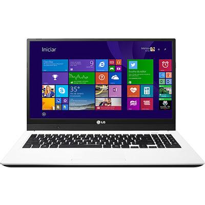 """Conheça o Notebook Ultra Slim LG 15U530-G.BK51P1 com processador Intel Core i5 (4210U) de 1.7 GHz a 2.7 GHz e 3 MB cache, 4GB de memória, HD de 500GB, Tela LED de 15.6"""", Conexões USB e HDMI, Dive de DVD, Bateria de 4 Células, Peso aproximado de 1,98kg e Windows 8.1."""