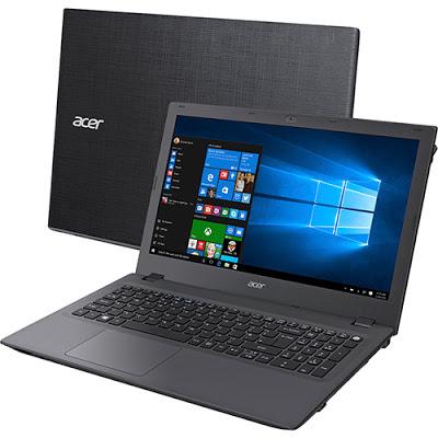 """Conheça o Notebook Acer E5-573-347G NX.G5UAL.022 com processador Intel Core i3 (5005U) de 2GHz e 3 MB cache, 4GB de memória, HD de 1TB, Tela LED de 15,6"""", Conexões USB e HDMI, Drive de DVD, Bateria de 4 células, Peso aproximado de 2,4kg e Windows 10."""