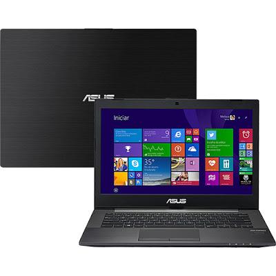 """Conheça o Notebook Asus PU401LA-WO073P com processador Intel Core i3 (4010U) de 1.7 GHz e 3 MB cache, 6GB de memória, HD de 500GB, Tela LED de 14"""", Conexões USB e HDMI, Não possu Drive de DVD, Bateria de 3 células, Peso aproximado de 1,7kg e Windows 8 Pro."""