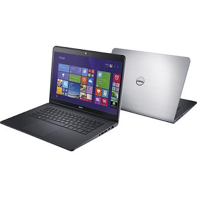 """Conheça o Notebook Dell Inspiron i14-5448-C25 com processador Intel Core i7 (5500U) de 2.4 GHz a 3 GHz e 4 MB cache, 8GB de memória, HD de 1TB e 8GB SSD, Tela de 14"""", PLaca de vídeo AMD Radeon HD R7 M265 com 2 GB de memória dedicada, Coexnões USB e HDMI, Não possui drive de DVD, Bateria de 3 células, Peso aproximado de 2,2kg e Windows 10 ."""