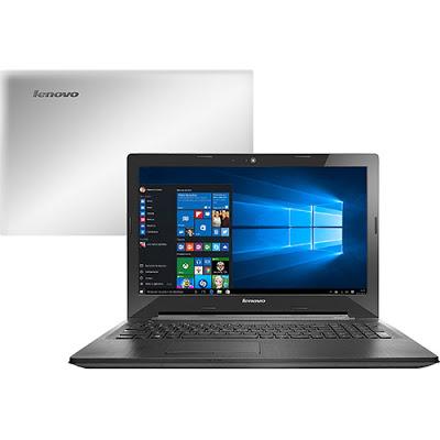 """Conheça o Notebook Lenovo G40-80 80JE000CBR com processador Intel Core i5 (5200U) de 2.2 GHz a 2.7 GHz e 3 MB cache, 4GB de memória, HD de 1TB, Tela LED 14"""", Placa de vídeo AMD Radeon R5 M230 com 2 GB de memória dedicada, Conexões USB e HDMI, Drive de DVD, Bateria de 4 células, Peso aproximado de 2,1kg e Windows 10."""