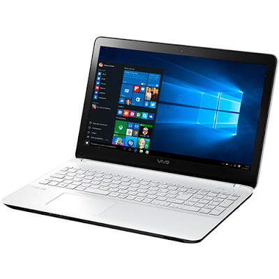 """Conheça o Notebook Vaio Fit 15F VJF153B0311W com processador Intel Core i5 (5200U) de 2.2 GHz a 2.7 GHz e 3 MB cache, 8GB de memória, HD de 1TB, Tela LED de 15,6"""", Conexões USB e HDMI, Bateria de 4 células, Peso aproximado de 2,2kg e Windows 10."""