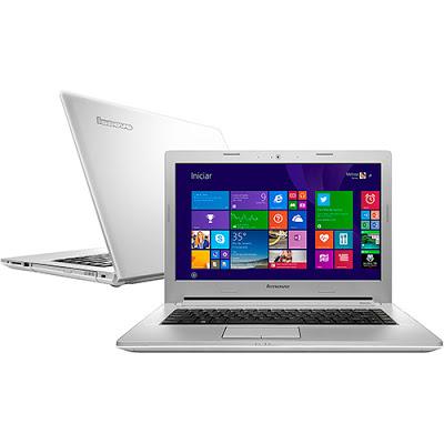 """Conheça o Notebook Lenovo Z40-70 80E60005BR com processador Intel Core i5 (4200U) de 1.6 GHz a 2.6 GHz e 3 MB cache, 6GB de memória, HD de 1TB, Tela LED de 14"""" full hd, Placa de vídeo Geforce 820M com 2 GB de memória dedicada, Conexões USB e HDMI, Drive de DVD, bateria de 4 células, Peso aproximado de 2,1 kg e Windows 8.1."""
