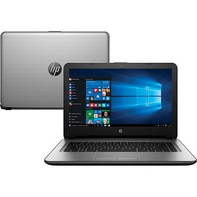 """Conheça o Notebook HP 14-ac141br L9M40LA#AC4 com processador Intel Core i5 (5200U) de 2.2 GHz a 2.7 GHz e 3 MB cache, 8 GB de memória, HD de 1TB, Tela LED de 14"""", Placa de vídeo Radeon R5 M330 com 2 GB de memória dedicada, Conexões USB e HDMI, Drive de DVD, Bateria de 4 células, Peso aproximado de 1,9kg e Windows 10."""
