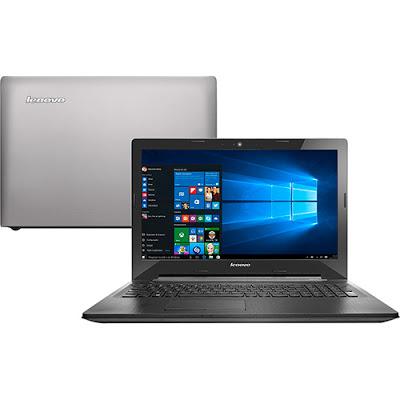 """Conheça o Notebook Lenovo G50-80 80R0000ABR com processador Intel Core i5 (5200U) de 2.2 GHz a 2.7 GHz e 3 MB cache, 8GB de memória, HD de 1TB, Tela LED de 15,6"""", Placa de vídeo Radeon R5 M230 com 2 GB de memória dedicada, Conexões USB e HDMI, Drive de DVD, bateria de 4 células, Peso aproximado de 2,5kg e Windows 10."""