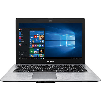 """Conheça o Notebook Positivo Premium XR7550 com processador Intel Core i3 (4005U) de 1.7 GHz e 3MB cahce, 4GB de memória, HD de 500GB, Tela LED de 14"""", Conexões USB e HDMI, Não possui Drive de DVD, Bateria de 3 células, Peso aproximado de 1,65kg e Windows 10."""