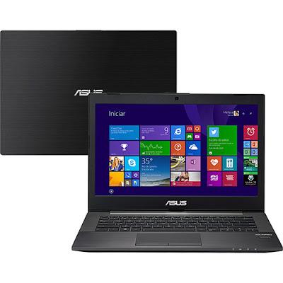"""Conheça o Notebook Asus PU401LA-WO075P com processador Intel Core i7 (4500U) de 1.8 GHz a 3 GHz e 4 MB cache, 6GB de Memória, Hd de 500GB, Tela LED de 14"""", Conexões USB e HDMI, Não possui Drive de DVD, Bateria de 3 células, Peso aproximado de 1,7kg e Windows 8 Pro."""