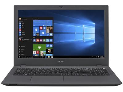 """Conheça o Notebook Acer Aspire E5-573-54ZV com processador Intel Core i5 (5200U) de 2.2 GHz a 2.7 GHz e 3 MB cache, 8GB de Memória, HD de 1TB, Tela de 15,6"""", Conexões USB e HDMI, Drive de DVD, Bateria de 4 células, Peso aproximado de 2,4kg e Windows 10."""