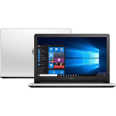 """Conheça o Notebook Dell Inspiron I15-5558-A45 com processador Intel Core i7 (5500U) de 2.4 GHz a 3 GHz e 4 MB cache, 4GB de memória, HD de 500GB, Tela de 15,6"""", Conexões USB e HDMI, Drive de DVD, Bateria de 4 células, peso aproximado de 2,3 kg e Windows 10."""