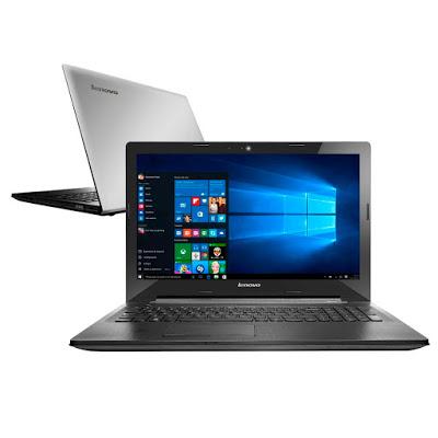 """Conheça o Notebook Lenovo G50-80 80R00009BR com processador Intel Core i7 (5500U) de 2.4 GHz a 3 GHz e 4 MB cache, 8GB de memória, HD de 1TB, Tela LED de 15,6"""", Placa de vídeo Radeon R5 M230 com 2 GB de memória dedicada, Conexões USB e HDMI, Drive de DVD, Bateria de 4 células, pela aproximado de 2,5kg e Windows 10."""