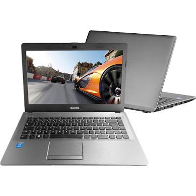 """Conheça o Notebook Positivo Premium XR9430 com processador Intel Core i7 (4510U) de 2 GHz a 3.1 GHz e 4 MB cache, 8GB de memória, HD de 1TB, Tela LCD de 14"""", Conexões USB e HDMI, Não possui Drive de DVD, Bateria de 2 células, peso aproximado de 1,65kg e Windows 8.1."""