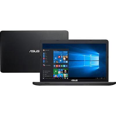"""Conheça o Notebook Asus X751LJ-TY171T com processador Intel Core i5 (5200U) de 2.2 GHz a 2.7 GHz e 3 MB cache, 8GB de memória RAM, HD de 1TB, Tela LED de 17,3"""", Placa de vídeo Geforce 920M com 2 GB de memória dedicada, Conexões USB e HDMI, Drive de DVD, Bateria de 4 Células, Peso Aproximado de 2,8kg e Windows 10."""
