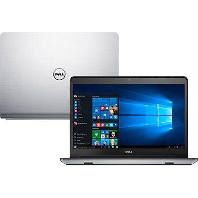 """Conheça o Notebook Dell Inspiron i14-5448-C30 com processador Intel Core i7 (5500U) de 2.4 GHz a 3 GHz e 4 MB cache, 8GB de memória, HD de 1TB e 8GB SSD, Tela Led Touch de 14"""", Placa de vídeo Radeon HD R7 M265 com 2 GB de memória dedicada, Conexões USB e HDMI, Não possui drive de DVD, bateria de 3 células, Peso aproximado de 2,2kg e Windows 10."""