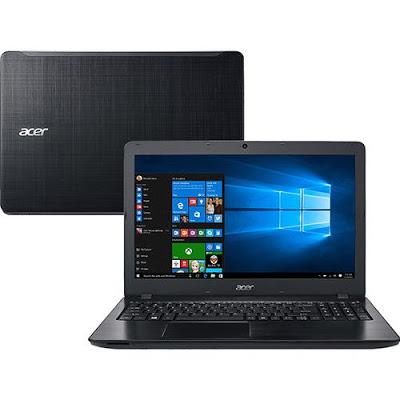 """Conheça o Notebook Acer F5-573-521B NX.GJKAL.001 com processador Intel Core i5 (6200U) de 2.3 GHz a 2.8 GHz, 8GB de memória RAM, HD de 1TB, Tela LED de 15.6"""", Conexões USB e HDMI, Drive de DVD, Bateria de 4 células, Peso aproximado de 2,3kg e Windows 10."""