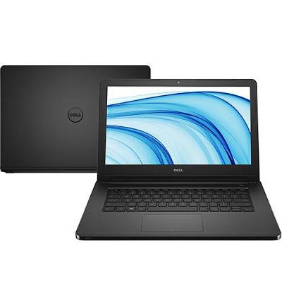 """Conheça o Notebook Dell Inspiron I14-5458-B08P com processador Intel Core i3 (5005U) de 2 GHz e 3 MB cache, 4GB de memória, HD de 1TB, Tela LED de 14"""", Conexões USB e HDMI, Não possui Drive de DVD, Bateria de 4 Células (40WHr), Peso aproximado de 2kg e Windows 10."""