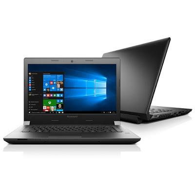 """Conheça o Notebook Lenovo B40-30 80F10009BR com processador Intel Celeron Dual Core (N2840) de 2.16 GHz a 2.58 GHz e 1 MB cache, 4GB de memória, HD de 500GB, Tela LED de 14"""", Conexões USB e HDMI, Drive de DVD, Bateria de 4 Células, Peso aproximado de 2kg e Windows 10."""