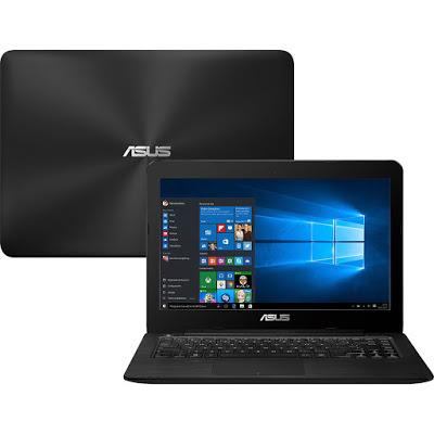 """Conheça o Notebook Asus Z450UA-WX001T com processador Intel Core i5 (6200U) de 2.3 GHz a 2.8 GHz e 3 MB cache, 8GB de memória, HD de 1TB, Tela LED de 14"""", Conexões USB e HDMI, Drive de DVD, Bateria de 2 células (3300 mAh), Peso aproximado de 2,1kg e Windows 10."""