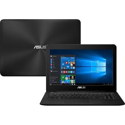 """Conheça o Notebook Asus Z450UA-WX002T com processador Intel Core i5 (6200U) de 2.3 GHz a 2.8 GHz e 3 MB cache, 4GB de memória, HD de 1TB, Tela LED de 14"""", Conexões USB e HDMI, Drive de DVD, Bateria de 2 células (3300 mAh), Peso aproximado de 2,1kg e Windows 10."""