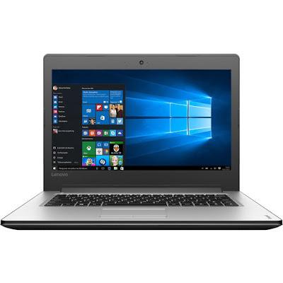 """Conheça o Notebook Lenovo Ideapad 310 80UG0001BR com processador Intel Core i7 (6500U) de 2.5 GHz a 3.1 GHz e 4 MB cache, 8GB de memória, HD de 1TB, Tela LED de 14"""", Conexões USB e HDMI, Drive de DVD, Bateria de 2 células (30Wh), Peso aproximado de 1,7 kg e Windows 10."""