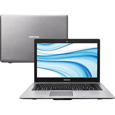 """Conheça o Notebook Positivo Premium XRI 8150 com processador Intel Core i5 (4210U) de 1.7 GHz a 2.7 GHz e 3 MB cache, 4GB de memória RAM, HD de 500GB, Tela LED de 14"""", Conexões USB e HDMI, Não possui drive de DVD, Bateria de 2 células, Peso aproximado de 1,5kg e Sistema Operacional Linux."""