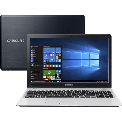 """Conheça o Notebook Samsung Expert X51 NP500R5L-YD2BR com processador Intel Core i7 (6500U) de 2.5 GHz a 3.1 GHz e 4 MB cache, 8GB de memória, HD de 1TB, Tela LED Full HD de 15,6"""", Placa de vídeo Gefoforce 940MX com 2 GB de memória dedicada, Conexoes USB e HDMI, Não possui Drive de DVD, Bateria de 3 células (43Wh), Peso aproximado de 1,9 kg e Windows 10."""