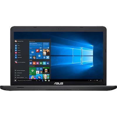 """Conheça o Notebook Asus X751LJ-TY386T com processador Intel Core i5 (5200U) de 2.2 GHz a 2.7 GHz e 3 MB cache, 6GB de memória RAM, HD de 1TB, Tela LED de 17,3"""", Placa de vídeo Geforce 920M com 2 GB de memória dedicada, Conexões USB e HDMI, Drive de DVD, Bateria de 4 Células, Peso Aproximado de 2,8kg e Windows 10."""