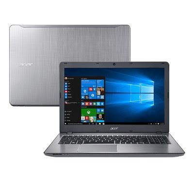 """Conheça o Notebook Acer Aspire F5-573-723Q com processador Intel Core i7 (6500U) de 2.5 GHz a 3.1 GHz e 4 MB cache, 8 GB de memória RAM (DDR4-2133), HD de 1 TB (5.400 RPM), Tela LED HD de 15,6"""" com resolução máxima de 1366 X 768, Placa de Vídeo Intel HD Graphics 520, Conexões USB e HDMI, Wi-Fi 802.11bgn, Drive de DVD, Bateria de 4 células (2800mAh), Peso aproximado de 2,3kg e Windows 10."""