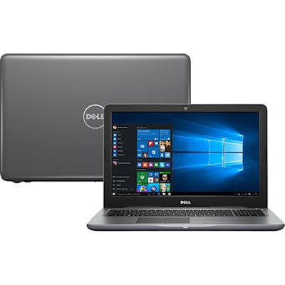 """Conheça o Notebook Dell Inspiron I15-5567-A40C com processador Intel Core i7 (7500U) de 2.7 GHz a 3.5 GHz e 4 MB cache, 8 GB de memória RAM (DDR4-2133MHz), HD de 1 TB (5.400 RPM), Tela LED HD de 15,6"""" com resolução máxima de 1366 X 768, Placa de Vídeo AMD Radeon R7 M445 com 4 GB de memória dedicada, Conexões USB e HDMI, Wi-Fi 802.11bgn, Drive de DVD, Bateria de 3 células (42WHr), Peso aproximado de 2,3kg e Windows 10."""