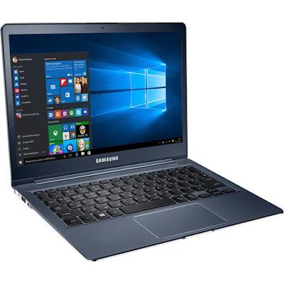 """Conheça o Notebook Samsung Style S40 NP930X2K-KW1BR com processador Intel Core M-5Y31 de 0.9 GHz a 2.4 GHz e 4 MB cache, 8GB de memória RAM (LPDDR3 1600MHz), SSD de 256 GB, Tela LED FULL HD de 12.2"""" SuperBright+ 350nits (máx. 700nits) LED WQXGA 16:10 com resolução máxima de 2560 X 1600, Placa de Vídeo integrada Intel HD Graphics 5300, Conexões USB e Micro HDMI, Wi-Fi 802.11 ac (2x2), Não possui Drive de DVD, Bateria de 2 células (35Wh), Peso aproximado de 950g e Windows 10."""