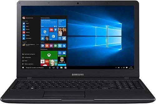 """Conheça o Notebook Samsung Expert X21 NP300E5K-KFWBR com processador Intel Core i5 (5200U) de 2.2 GHz a 2.7 GHz e 3 MB cache, 4GB de memória RAM, HD de 1 TB (5.400 RPM), Tela LED FULL HD de 15,6"""" Antirreflexiva com resolução máxima de 1920 X 1080, Placa de Vídeo integrada Intel HD Graphics 5500, Conexões USB e HDMI, Não possui Drive de DVD, Bateria de 3 células (43Wh), Peso aproximado de 1,9kg e Windows 10."""
