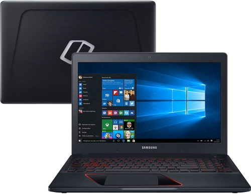 """Conheça o Notebook Samsung Odyssey NP800G5M-XG2BR com processador Intel Core i5 (7300HQ) de 2.5 GHz a 3.5 GHz e 6 MB cache, 8GB de memória RAM (2133MHz - expansível até 16GB), HD de 1 TB (5.400 RPM), Tela LED FULLHD de 15,6"""" com resolução máxima de 1920 x 1080, Placa de Vídeo integrada Intel HD Graphics 630 e Geforce GTX 1050 com 4GB (DDR5 Dedicada), Conexões USB e HDMI, Wi-Fi 802.11 ac, Não possui Drive de DVD, Bateria de 3 células (43WHr), Teclado Retroiluminado, Peso aproximado de 2,5kg e Windows 10."""