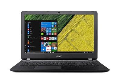 """Conheça o Notebook Acer Aspire ES1-533-C76F NX.GJ7AL.003 com processador Intel Celeron Quad Core (N3450) de 1.1 GHz a 2.2 GHz e 2 MB cache, 4GB de memória RAM (Expansível até 8GB), HD de 500GB (5.400 RPM), Tela LED HD de 15,6"""" com resolução máxima de 1366 X 768, Placa de vídeo integrada Intel HD Graphics 500, Conexões USB e HDMI, Wi-fi 802.11 b/g/n, Drive de DVD, Bateria de 3 células (3220 mAh), Peso aproximado de 2,4kg e Windows 8.1."""