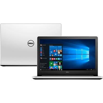 """Conheça o Notebook Dell Inspiron I15-5558-BB10 com processador Intel Core i3 (5005U) de 2 GHz e 3 MB cache, 4GB de memória RAM (DDR3L-1600MHz expansível até 16GB), HD de 1 TB (5.400 RPM), Tela LED HD de 15,6"""" com resolução máxima de 1366 x 768, Placa de Vídeo integrada Intel HD Graphics 5500, Conexões USB e HDMI, Wi-Fi 802.11bgn, Drive de DVD, Bateria de 4 células (40WHr), Peso aproximado de 2,32kg e Windows 10."""