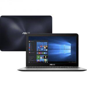 """Conheça o Notebook Asus X556UR-XX478T com processador Intel Core i5 (7200U) de 2.5 GHz a 3.1 GHz e 3 MB cache, 8GB de memória RAM (DDR 4 - 4 GB Onboard + 4 GB Offboard), HD de 1 TB (5.400 RPM), Tela LED HD de 15,6"""" com resolução máxima de 1366 X 768, Placa de Vídeo integrada Intel HD Graphics 620 e Geforce 930MX com 2GB de memória dedicada, Conexões USB e HDMI, Wi-Fi 802.11 b/g/n, Não possui Drive de DVD, Bateria de 2 células (3300mAh), Teclado Retroiluminado, Peso aproximado de 2,3kg e Windows 10."""