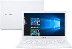 """Conheça o Notebook Samsung Expert X23 NP300E5M-XD2BR com processador Intel Core i5 (7200U) de 2.5 GHz a 3.1 GHz e 3 MB cache, 8GB de memória RAM (DDR4), HD de 1 TB (5.400 RPM), Tela LED HD de 15,6"""" com resolução máxima de 1366 x 768, Placa de Vídeo integrada Intel HD Graphics 620 e Geforce 920MX com 2GB de memória dedicada (GDDR3), Conexões USB e HDMI, Wi-Fi 802.11 ac, Não possui Drive de DVD, Bateria de 3 células (43WHr), Peso aproximado de 1,98kg e Windows 10."""