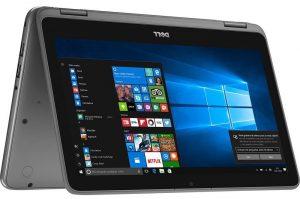 """Conheça o Notebook 2 em 1 Dell Inspiron I11-3168-A10 com processador Intel Pentium Quad Core (N3710) de 1.6 GHz a 2.56 GHz e 2 MB cache, 4GB de memória RAM (DDR3L - 1600 MHz), HD de 500 GB (5.400 RPM), Tela LED HD Touch de 11,6"""" com resolução máxima de 1366 x 768, Placa de Vídeo integrada Intel HD Graphics 405, Conexões USB e HDMI, Wi-Fi 802.11 b/g/n, Não possui Drive de DVD, Bateria de 2 células (32WHr), Teclado chiclete, Peso aproximado de 1,31kg e Windows 10."""