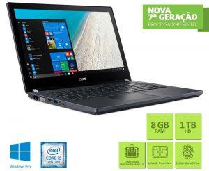 """Conheça o Notebook Acer TravelMate TMP449-G2-M-513D com processador Intel Core i5 (7200U) de 2.5 GHz a 3.1 GHz e 3 MB cache, 8GB de memória RAM (DDR4 2133 MHz - expansível até 20GB), HD de 1 TB (5.400 RPM), Tela LED HD de 14"""" com resolução máxima de 1366 x 768, Placa de Vídeo integrada Intel HD Graphics 620, Conexões USB e HDMI, Wi-Fi 802.11 ac, Não possui Drive de DVD, Bateria de 4 células (3220 mAh), Peso aproximado de 1,6kg e Windows 10."""