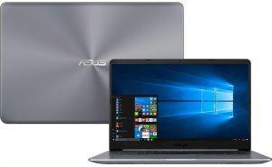 """Conheça o Notebook Asus Vivobook X510UR-BQ167T com processador Intel Core i7 (7500U) de 2.7 GHz a 3.5 GHz e 4 MB cache, 8GB de memória RAM (DDR4 2133 MHz - expansível até 16GB), HD de 1 TB (5.400 RPM), Tela LED FULL HD IPS de 15,6"""" e resolução máxima de 1920 x 1080 e tecnologia Nano Edge, Placa de Vídeo integrada Intel HD Graphics 620 e Geforce 930MX com 2GB (DDR5) de memória dedicada, Conexões USB e HDMI, Wi-Fi 802.11 ac, Não possui Drive de DVD, Teclado retroiluminado, Bateria de 3 células (43 Wh), Peso aproximado de 1,7kg e Windows 10."""