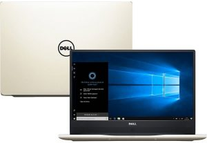 """Conheça o Notebook Dell Inspiron i14-7460-A20G com processador Intel Core i7 (7500U) de 2.7 GHz a 3.5 GHz e 4 MB cache, 8GB de memória RAM (DDR4 2133 MHz- expansível até 32GB), HD de 1 TB (5.400 RPM), Tela LED FULL HD com Trulife de 14"""" e resolução máxima de 1920 x 1080, Placa de Vídeo integrada Intel HD Graphics 620 e Geforce 940MX com 4GB (GDDR5) de memória dedicada, Conexões USB e HDMI, Wi-Fi 802.11 ac, Não possui Drive de DVD, Bateria de 3 células (42WHr), Peso aproximado de 1,62kg e Windows 10."""